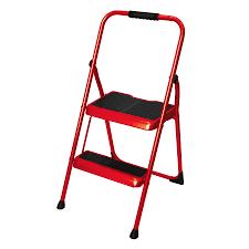 shop werner 2 step 200 lb red steel step stool at lowes com