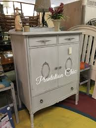 antique chifferette by plantation chic driftwood gray poets paint