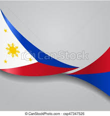 philippines wavy flag vector illustration philippines flag