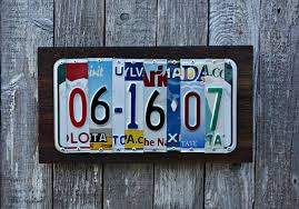 tin aluminum anniversary gifts upcycled license plate 10th wedding anniversary tin aluminum gift