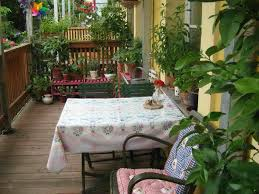 Patio Tablecloth by Outdoor And Patio Small Balcony Garden Ideas Combined With Corner