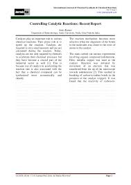 international journal of chemical synthesis and chemical reactions u2026