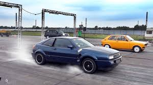 volkswagen corrado stance vw corrado vr6 twin engine turbo sound u0026 drag race acceleration