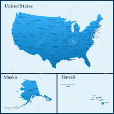 alaska and hawaii on us map the detailed map of the usa including alaska and hawaii the