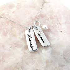 Child Name Necklace Personalized Name Tag Necklace Custom Name Jewelry Mom