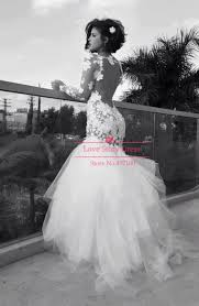 fishtail wedding dresses vestidos de novias tulle open back lace mermaid fishtail lace