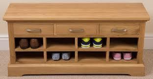 Oak Shoe Storage Cabinet Wooden Shoe Rack And Bench Bench Decoration