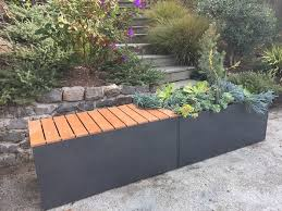 Garden Bench With Planters Selecting Plant Colors For Metal Planters U2013 Nice Planter Llc