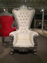 throne chair rental throne chair ivory w silver trim rentals new orleans la where to