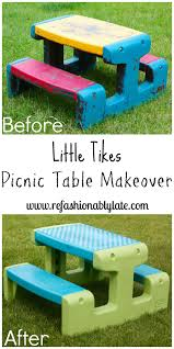 Little Tikes Fold N Store Picnic Table Directions by Little Tikes Picnic Table Makeover Picnic Tables Picnics And Craft