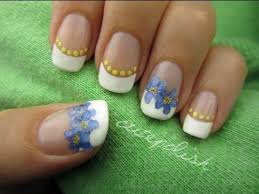Real Flowers - nail art using real flowers youtube
