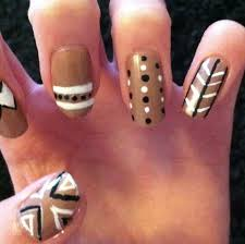 easy aztec nail designs 2017 2018 fashion trend stylepics