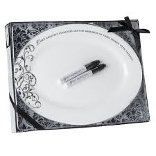 guest signing plate lillian oval guest signing plate wedding