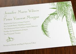 palm tree wedding invitations palm tree