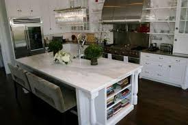 white marble kitchen island calcutta marble countertop transitional kitchen