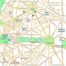 Delhi India Map by Delhi Map Central Delhi Map Of Connaught Place India Gate