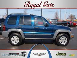 jeep gray blue 2005 jeep liberty crd sport 4x4 in midnight blue pearl 686680