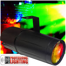 professional lighting led color changing pinspot