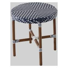 Wicker Accent Table Café Wicker Patio Accent Table Navy White Threshold