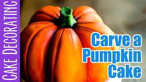 how to carve and airbrush a realistic pumpkin cake youtube