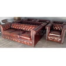 vintage leather sofa u0026 puff furniture traditional indian gudri