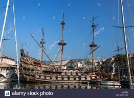 genua galeone neptun a pirate ship from hollywood picture stock