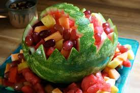 how to make a fruit basket watermelon basket party decoration step by step