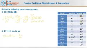 chemistry practice problems metric system u0026 conversions youtube