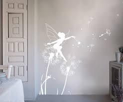 bambizi white wall stickers fairy design flower fairy dandelion fairy wall stickers