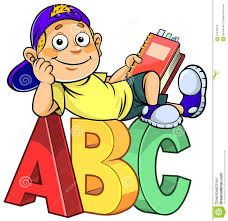cartoon kid on abc stock illustration image 61370915