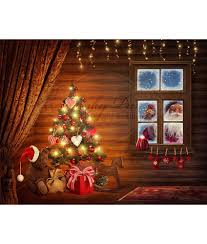 christmas photo backdrops peeking santa window vinyl photography backdrop