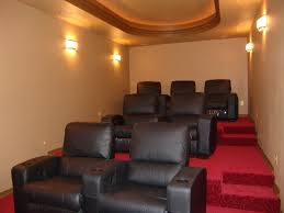 home theater room size from crawl space storage room into nice family size theater room
