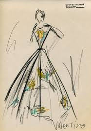 fashion illustration valentino haute couture dress drawing