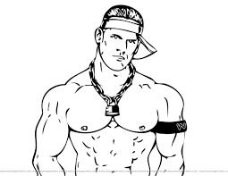john cena printable coloring pages free printable wwe coloring