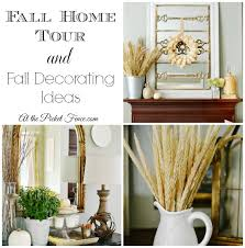 fall home tour and fall decorating ideas at the picket fence