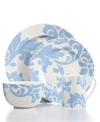 Dining Dish Set Martha Stewart Collection Dinnerware Lisbon Blue Collection