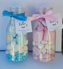 milk bottle candy filled baby shower christening party favours