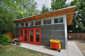 Clearstory Windows Plans Decor Prefab Sheds Garage And Shed Contemporary With Art Studio