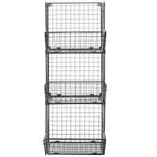 Bathroom Wall Baskets Endearing 80 Metal Wall Baskets Design Decoration Of R U0026b Wire