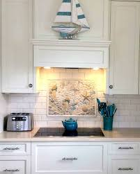 kitchen mural ideas nautical theme tiles backsplash with flip flop tile also mural