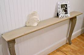 Wall Tables Homeroad Diy Narrow Wall Or Sofa Table
