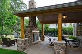 covered patio with fireplace u2013 outdoor design