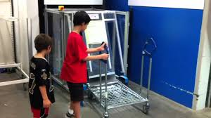 Ikea Cart by Ikea Auto Feed Flat Pack Shopping Cart Machine Youtube