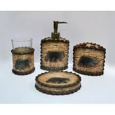 Rustic Bathroom Accessories Sets - rustic bathroom accessory sets wayfair