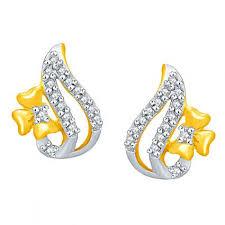 gold ear ring images buy gold earrings online gold 22kt earring nakshatra