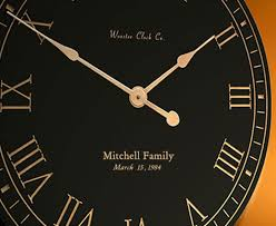 personalized wedding clocks personalized clocks by wooster clock company