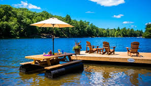 floating picnic table for sale nydock floating docks pontoons pipefusion in huntsville ontario
