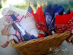 Picnic Basket Ideas Red White And Blue Picnic Basket Idea The Style Sisters
