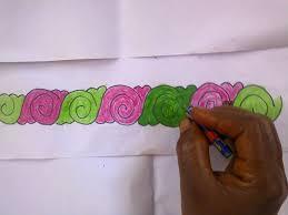 Flower Designs On Paper Border Designs Youtube