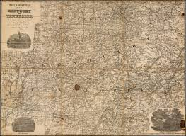Richmond Ky Map Rare Confederate Map Of Kentucky And Tennessee Rare U0026 Antique Maps
